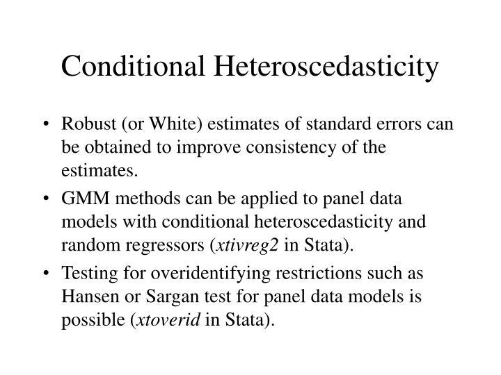 Conditional Heteroscedasticity