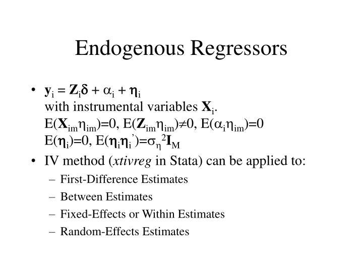 Endogenous Regressors
