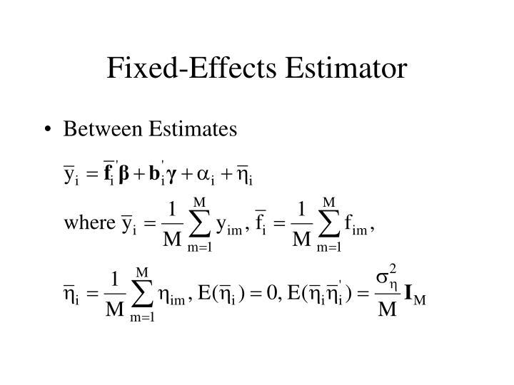 Fixed-Effects Estimator