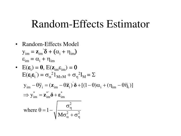 Random-Effects Estimator
