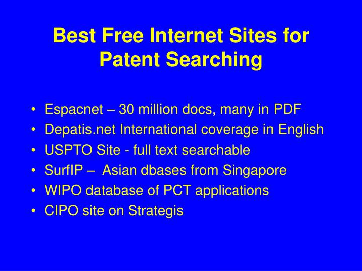 Best Free Internet Sites for Patent Searching