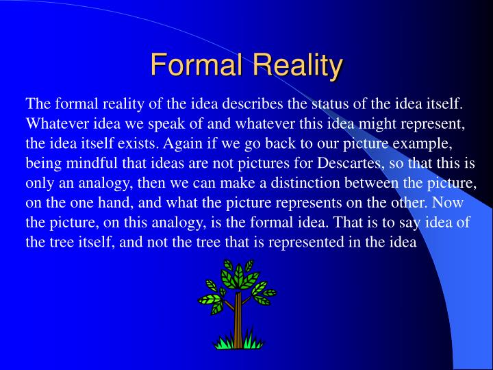Formal Reality
