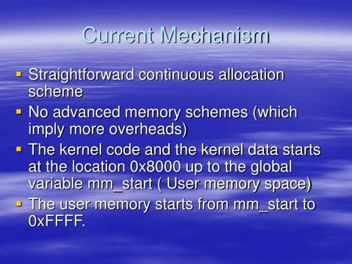 Current Mechanism