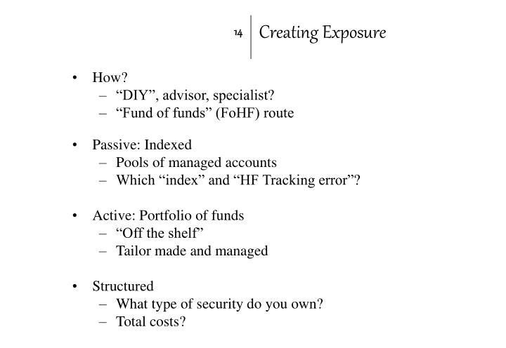 Creating Exposure
