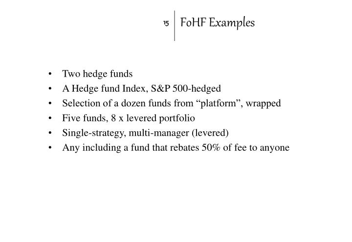 FoHF Examples