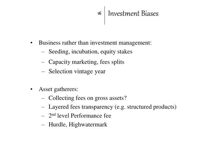 Investment Biases