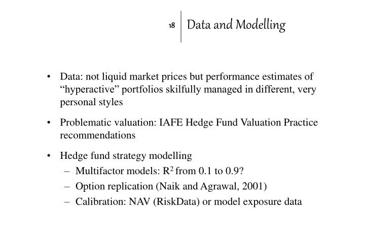 Data and Modelling
