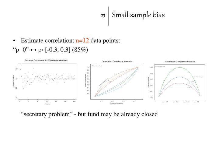 Small sample bias