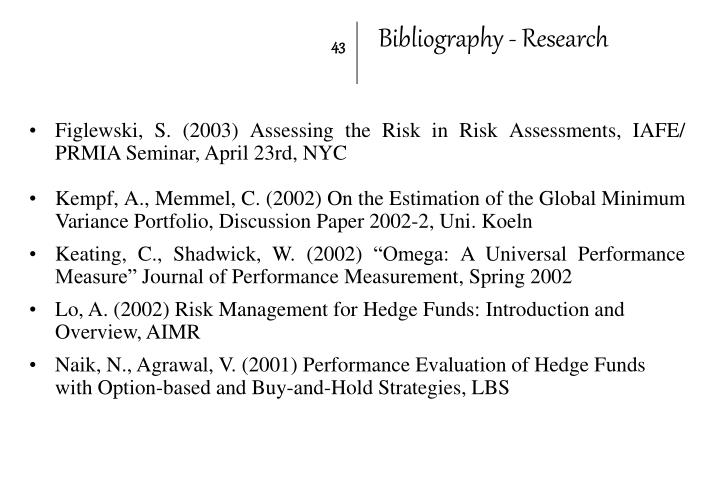 Bibliography - Research