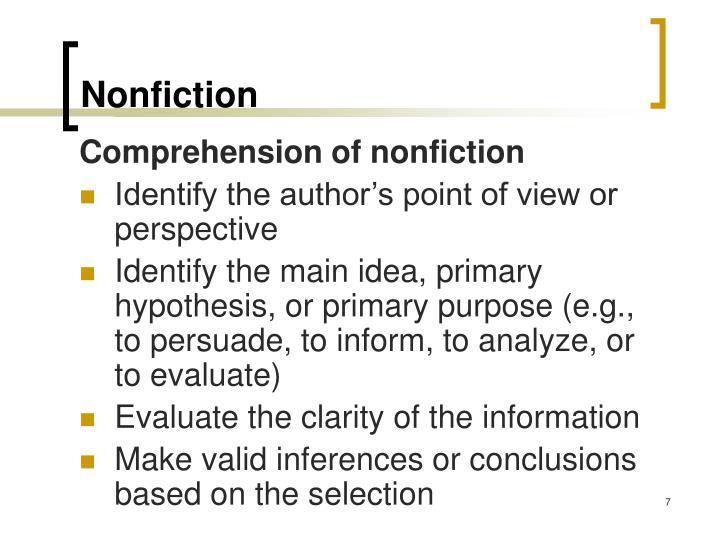 Nonfiction