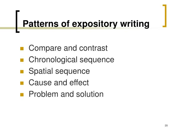 Patterns of expository writing