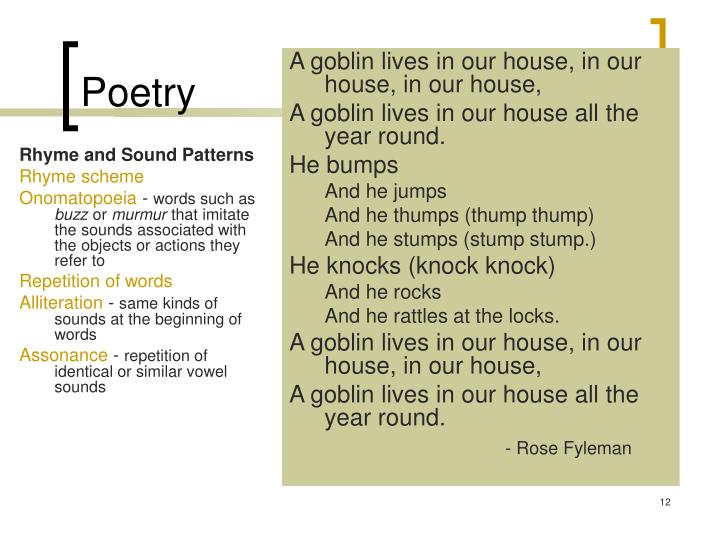 Rhyme and Sound Patterns