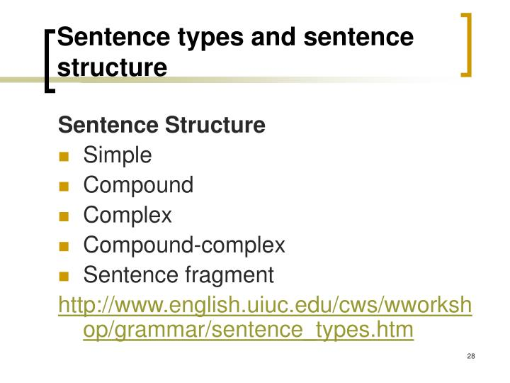 Sentence types and sentence structure