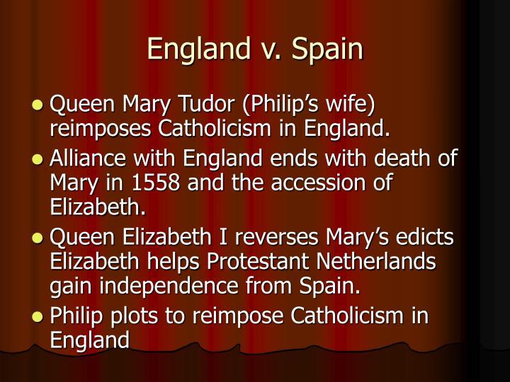 England v. Spain