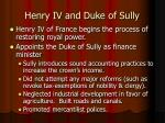 henry iv and duke of sully