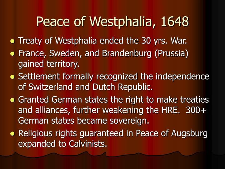 Peace of Westphalia, 1648