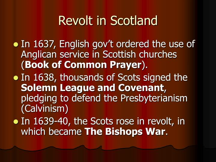 Revolt in Scotland