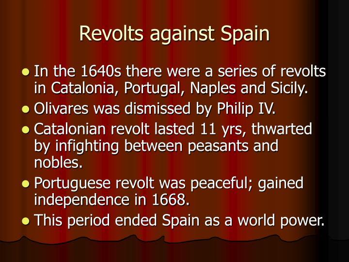 Revolts against Spain
