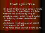 revolts against spain