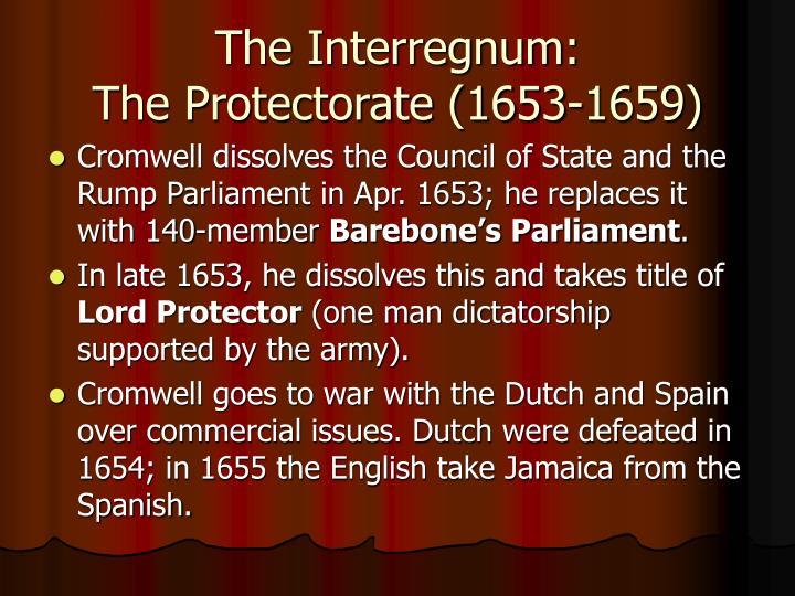 The Interregnum: