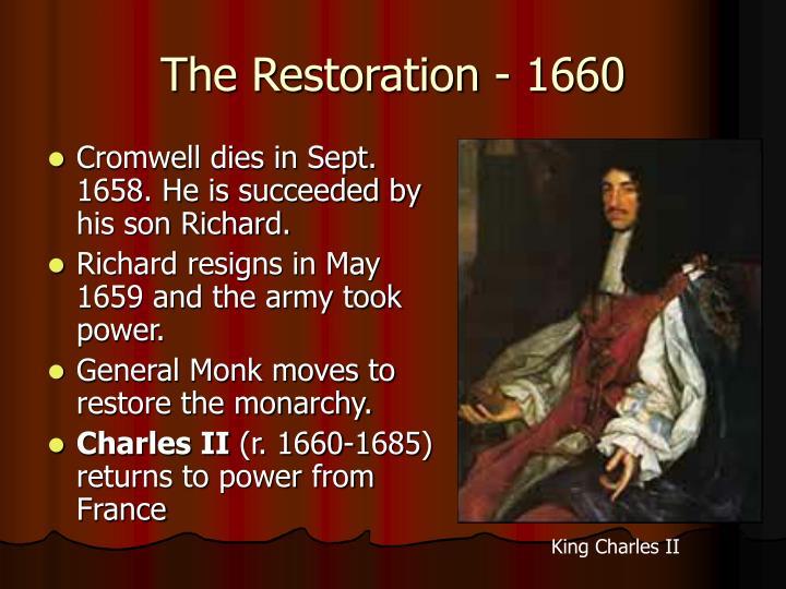 The Restoration - 1660