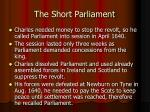 the short parliament