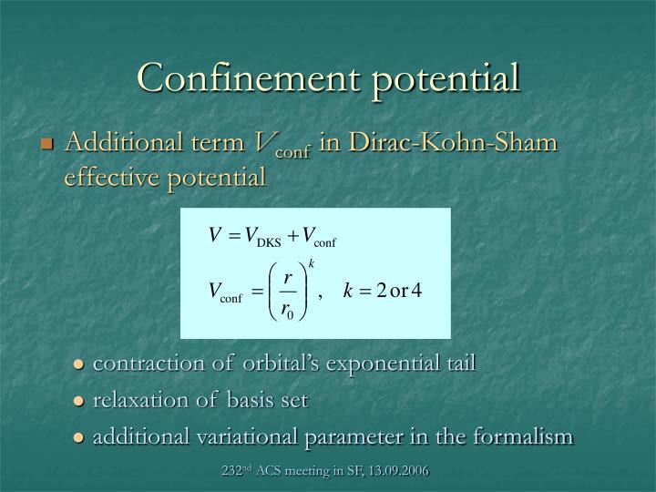 Confinement potential