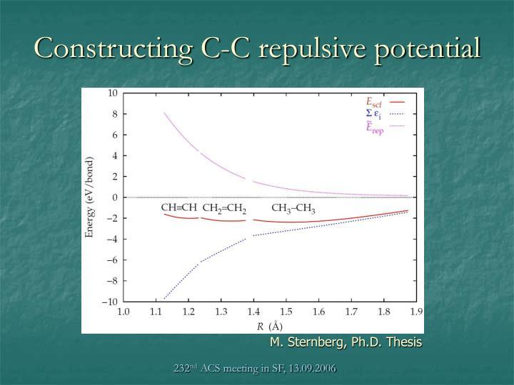 Constructing C-C repulsive potential