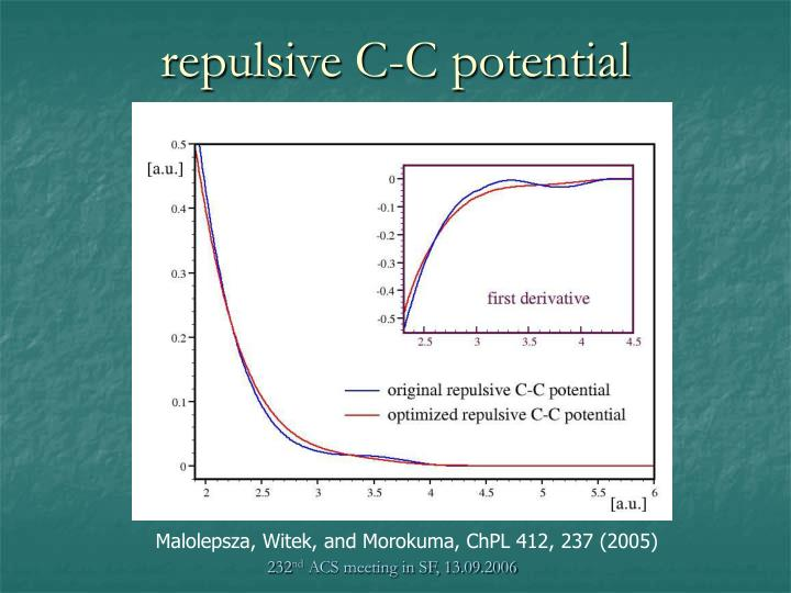 repulsive C-C potential