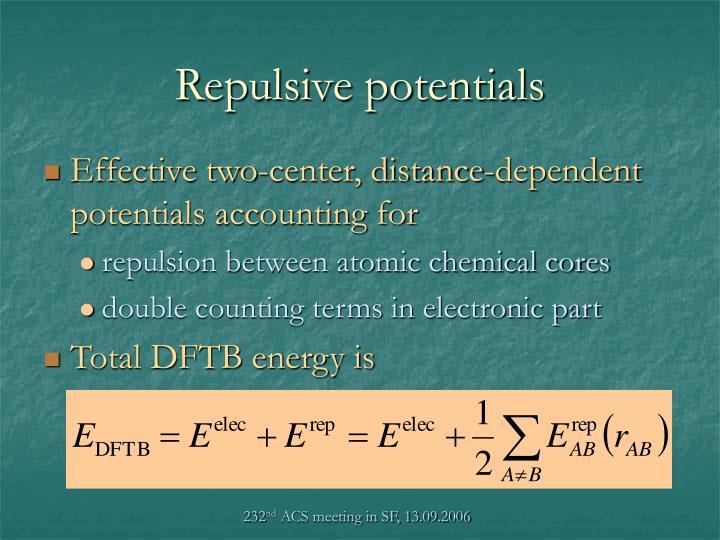 Repulsive potentials