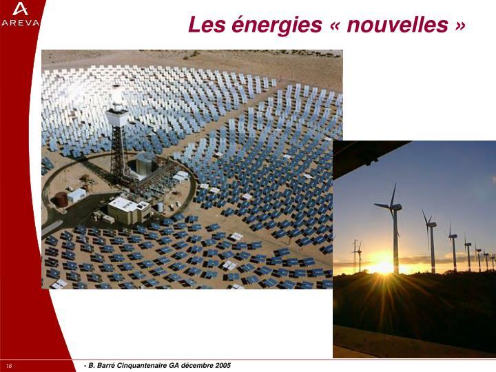 Les énergies «nouvelles»