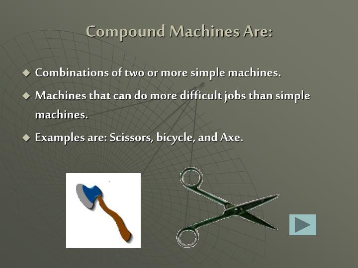Compound Machines Are: