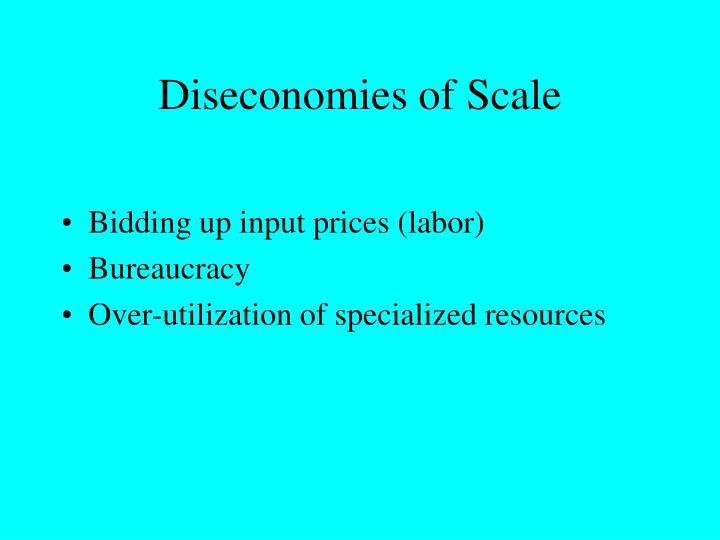 Diseconomies of Scale