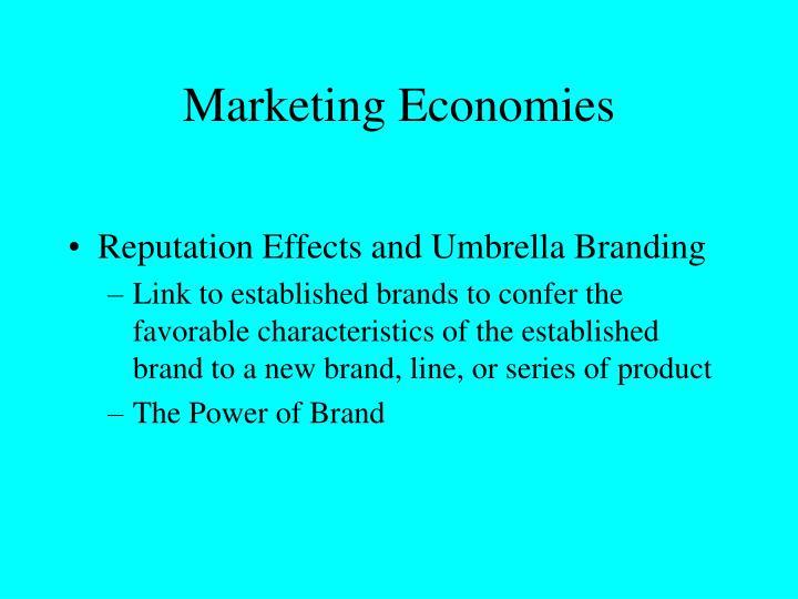 Marketing Economies