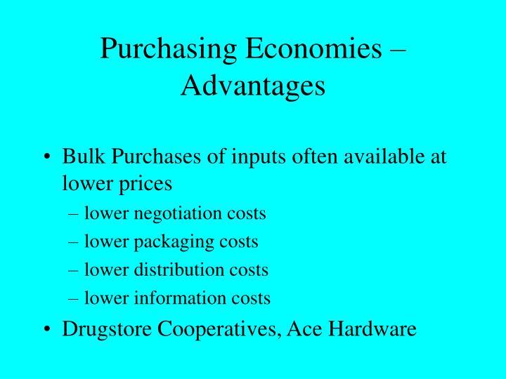 Purchasing Economies – Advantages