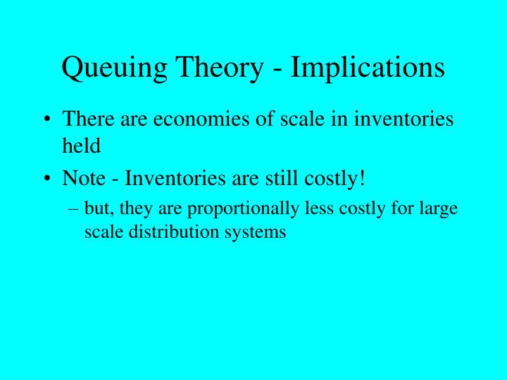 Queuing Theory - Implications