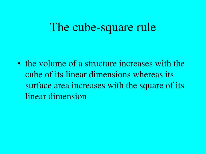 The cube-square rule