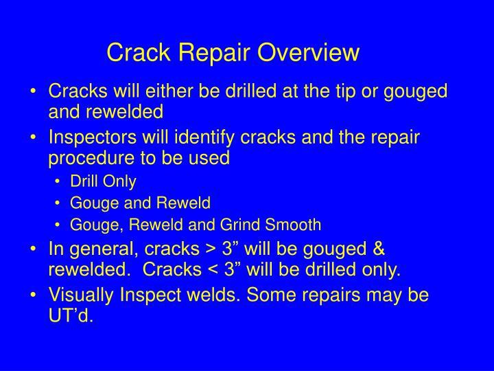 Crack Repair Overview