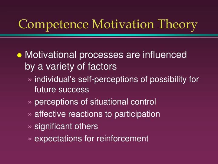 Competence Motivation Theory