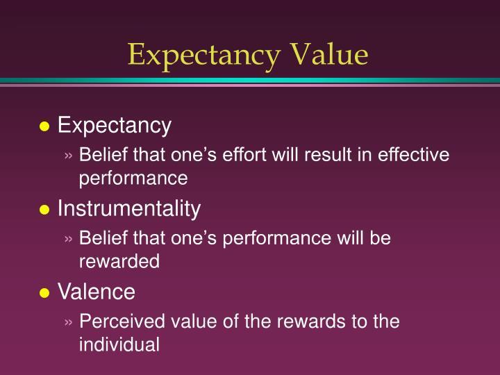 Expectancy Value