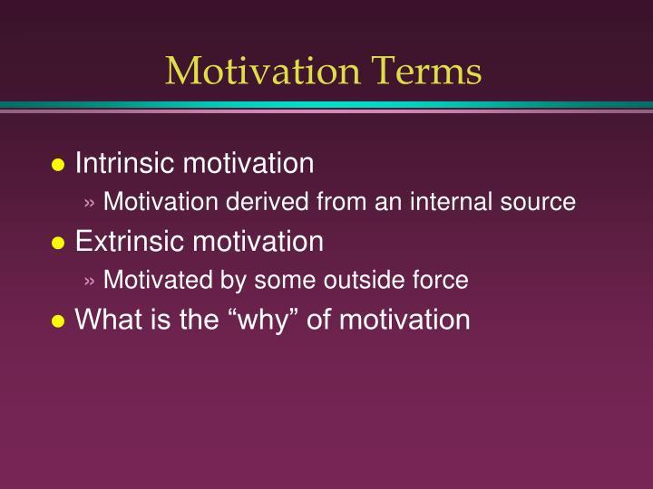 Motivation Terms