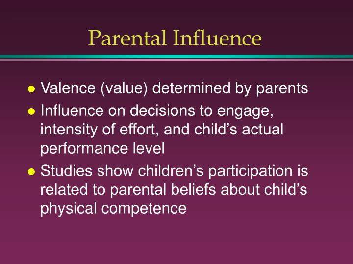 Parental Influence