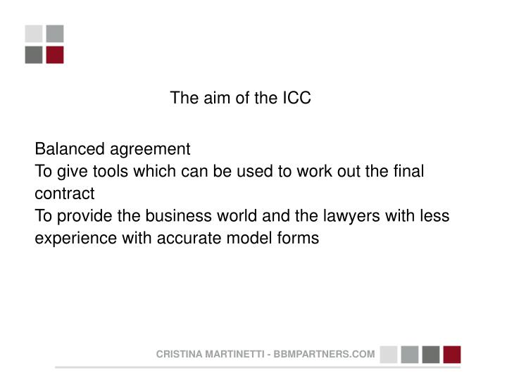 The aim of the ICC