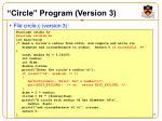circle program version 3