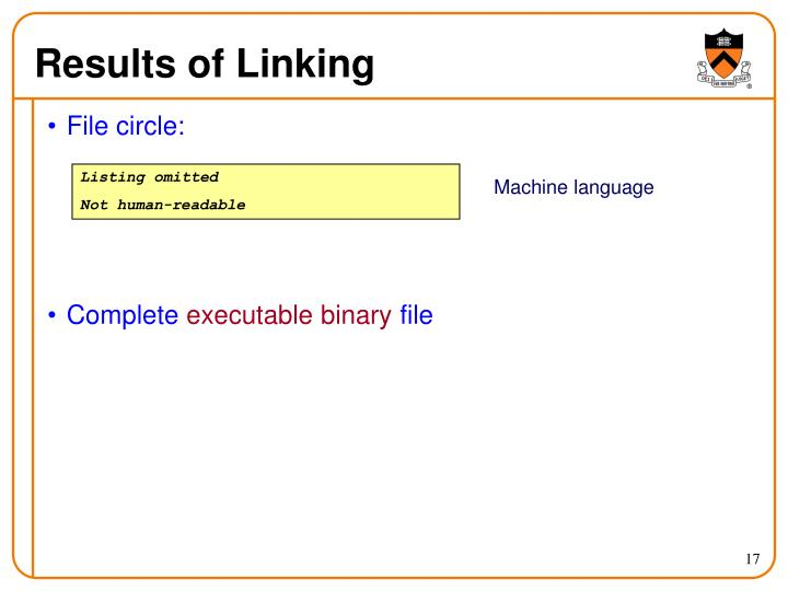 Results of Linking
