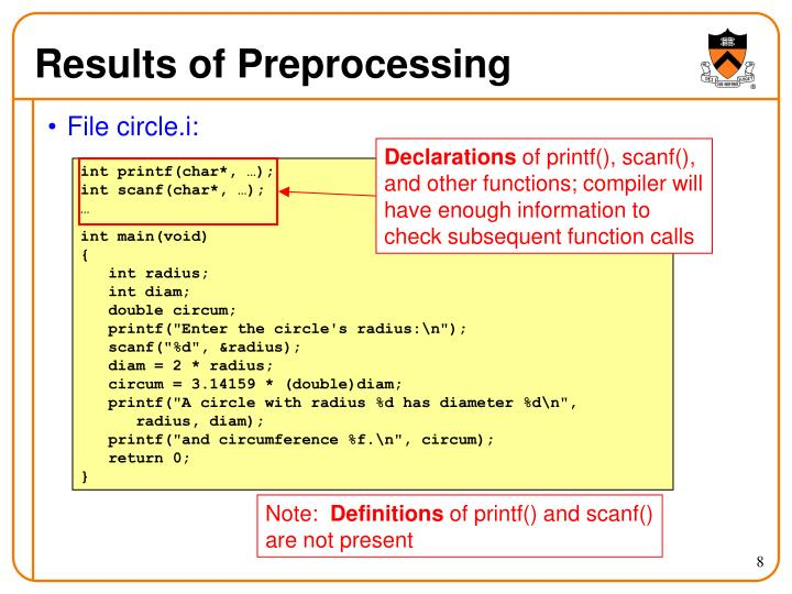 Results of Preprocessing