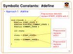 symbolic constants define