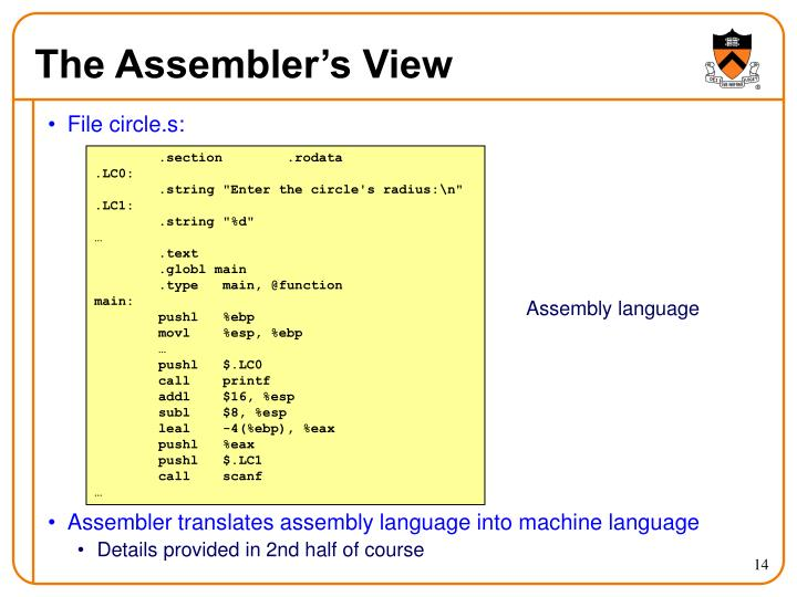 The Assembler's View