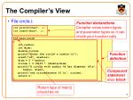 the compiler s view