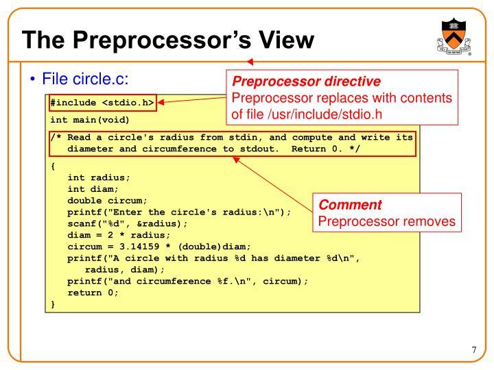 The Preprocessor's View